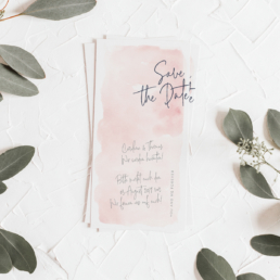 Save-the-Date Karte zur Hochzeit aus der Kollektion Romantic Feelings